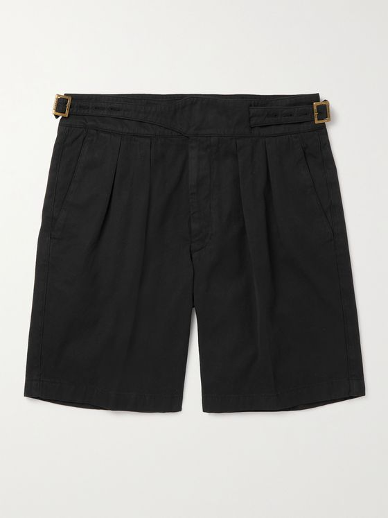 RUBINACCI Manny Pleated Cotton Shorts