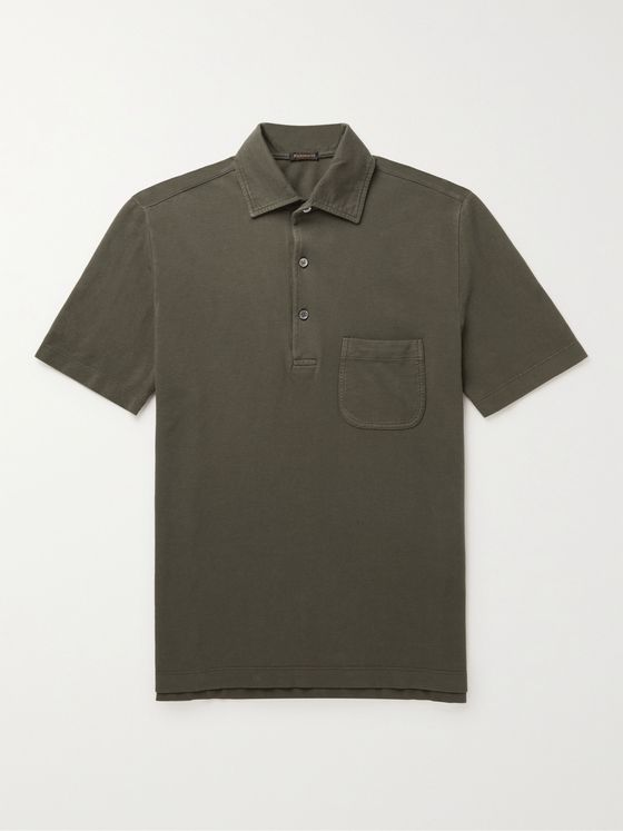 RUBINACCI Cotton-Jersey Polo Shirt