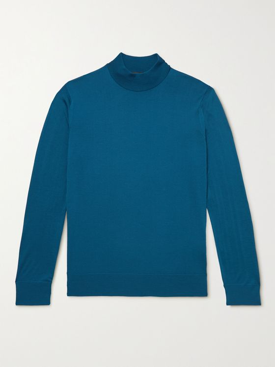 LORO PIANA Slim-Fit Wish Virgin Wool Rollneck Sweater