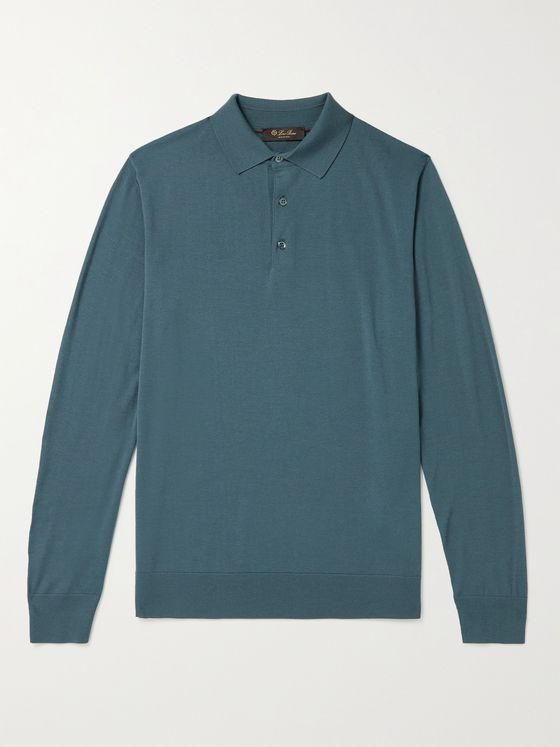 LORO PIANA Wish Virgin Wool Polo Shirt