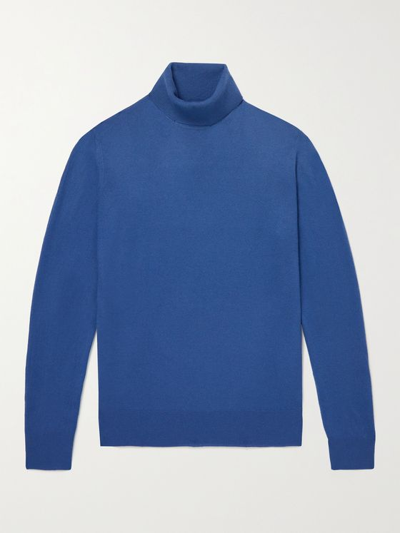 LORO PIANA Dolcevita Slim-Fit Baby Cashmere Rollneck Sweater