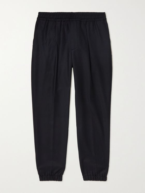 LORO PIANA Tapered Wool and Cashmere-Blend Drawstring Trousers
