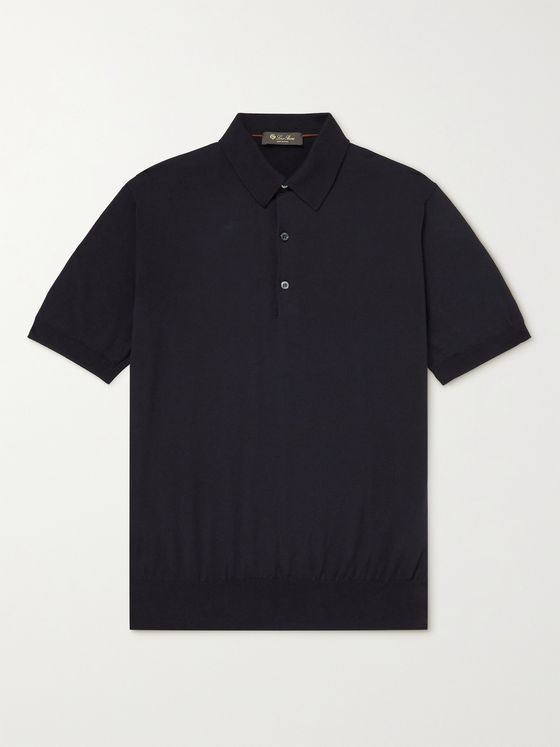 LORO PIANA Knitted Cotton Polo Shirt
