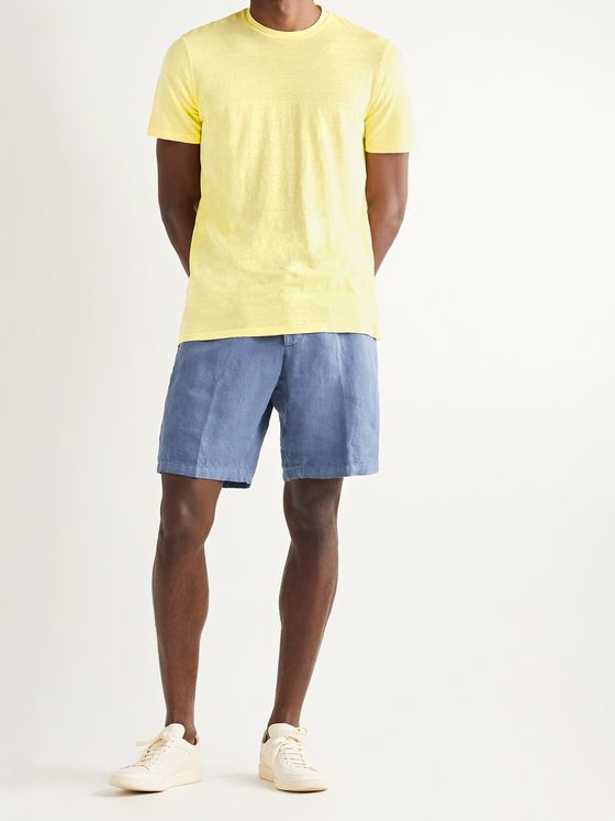 ALTEA Slub Stretch-Linen T-Shirt