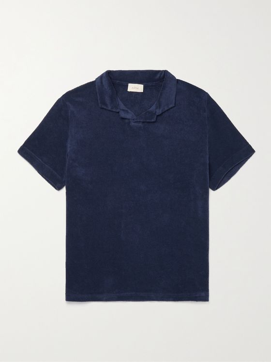 ALTEA Dennis Cotton-Blend Terry Polo Shirt
