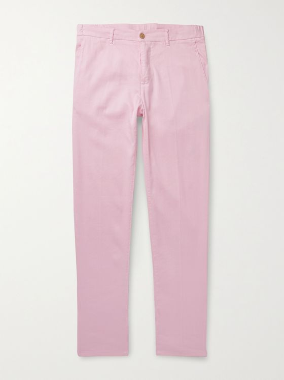 ALTEA Dumbo Linen and Cotton-Blend Trousers