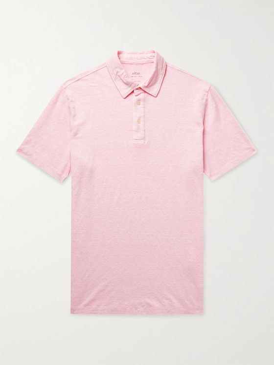 ALTEA Slub Stretch-Linen Polo Shirt