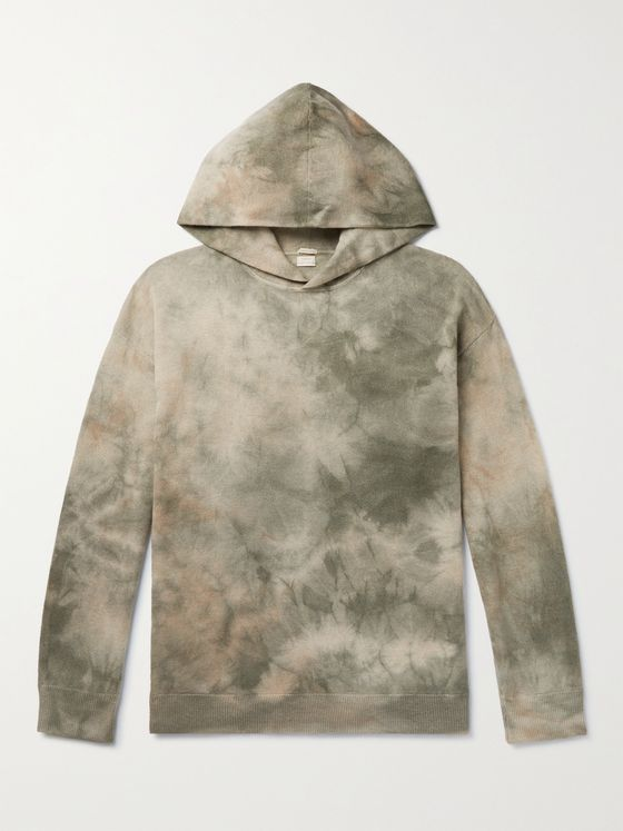 MASSIMO ALBA Tie-Dyed Cashmere Hoodie