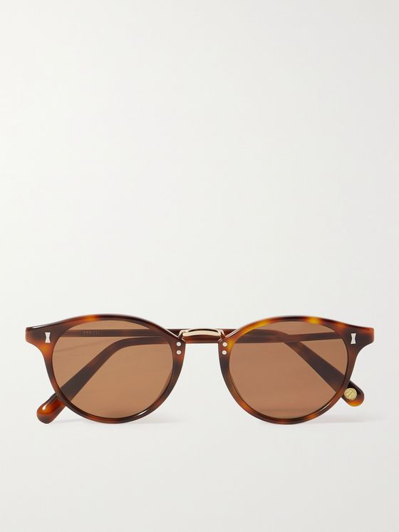 CUBITTS Flaxman Round-Frame Tortoiseshell Acetate and Gold-Tone Sunglasses