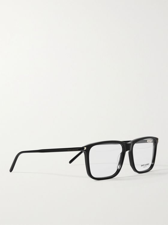 SAINT LAURENT Rectangular-Frame Acetate Optical Glasses