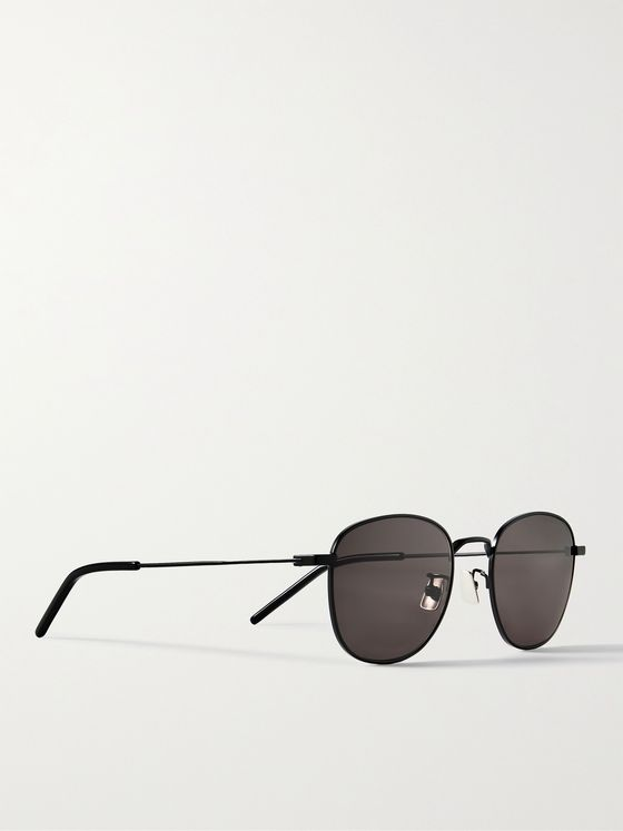 SAINT LAURENT D-Frame Metal Sunglasses