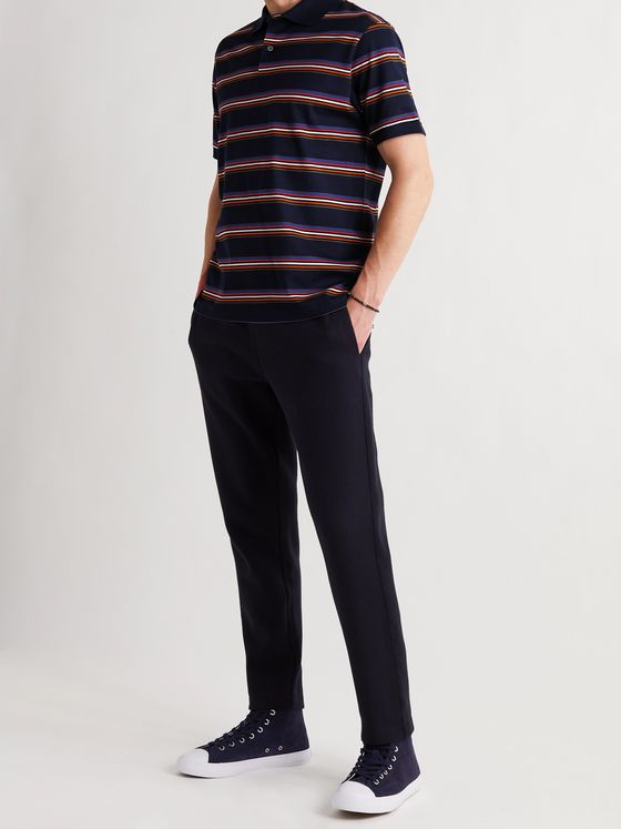 PAUL SMITH Striped Cotton Polo Shirt