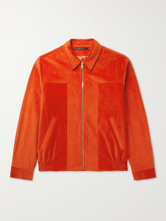 PAUL SMITH Cotton and Cashmere-Blend Corduroy Harrington Jacket