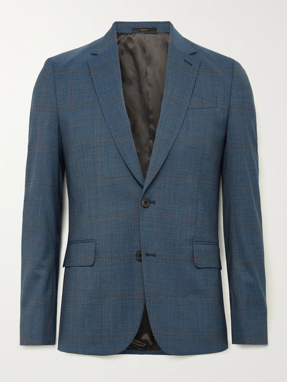 PAUL SMITH Slim-Fit Prince of Wales Checked Wool-Blend Suit Jacket