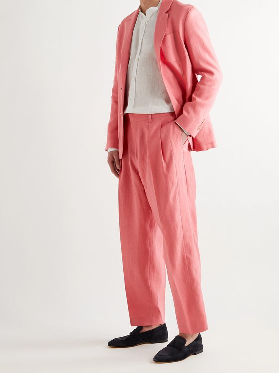 PAUL SMITH Pleated Linen Suit Trousers