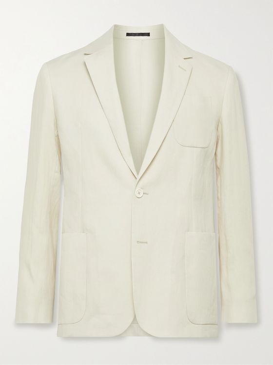 PAUL SMITH Slim-Fit Unstructured Linen Suit Jacket
