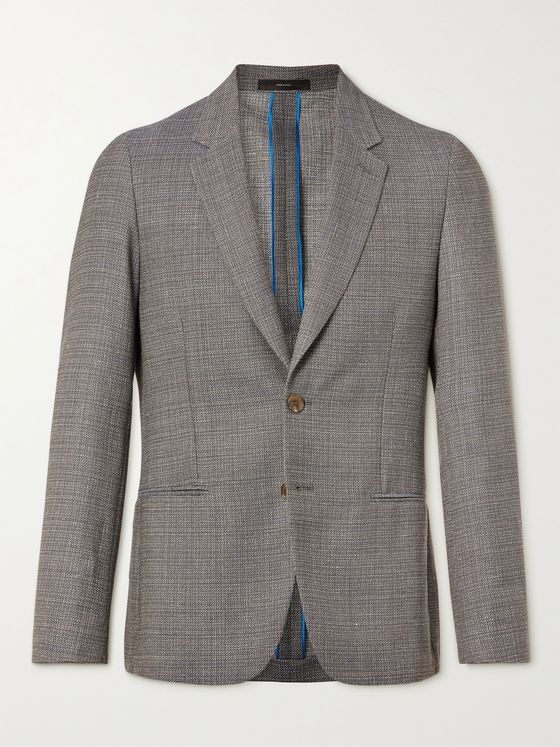 PAUL SMITH Wool and Linen-Blend Blazer