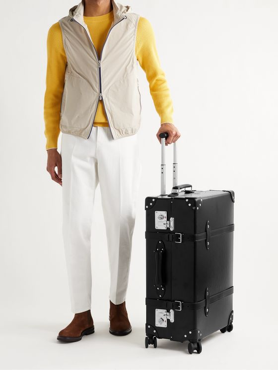 "GLOBE-TROTTER Centenary 30"" Leather-Trimmed Suitcase"