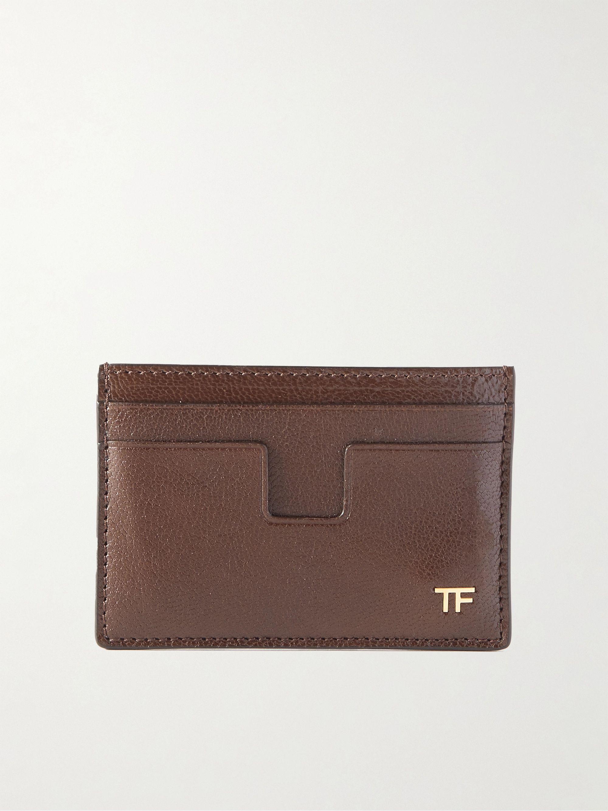 톰 포드 카드 지갑 Tom Ford Leather Cardholder,Brown