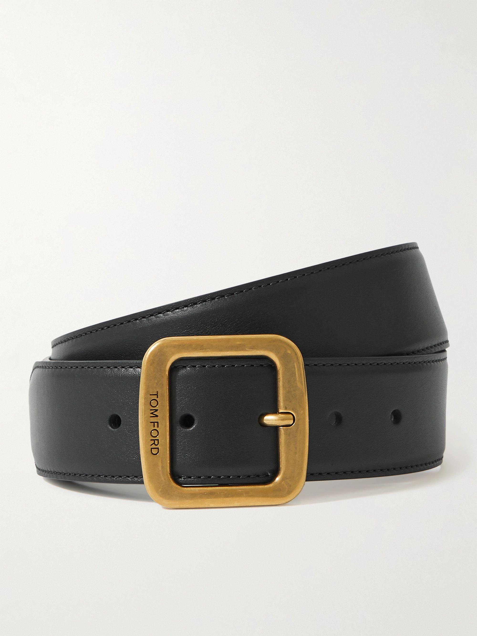 톰 포드 벨트 Tom Ford 4cm Leather Belt,Black