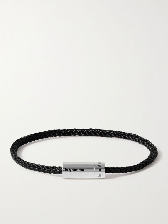 LE GRAMME 5g Braided Cord and Sterling Silver Bracelet