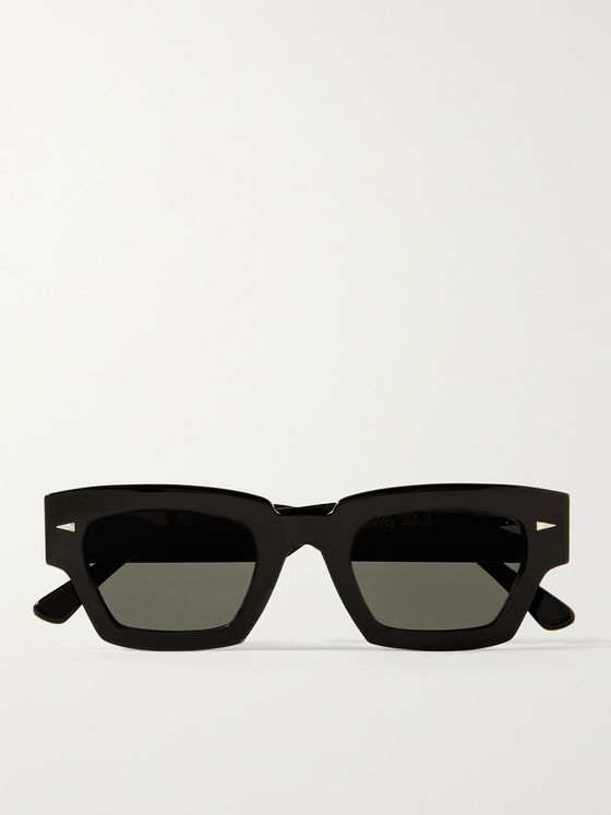 AHLEM Villette Rectangle-Frame Acetate Sunglasses