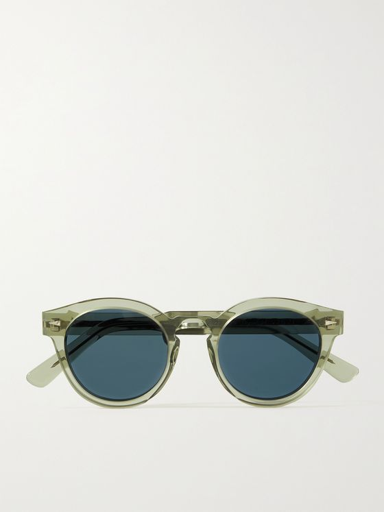 AHLEM Abbesses Round-Frame Acetate Sunglasses