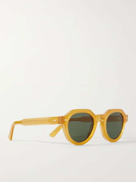 AHLEM Grenelle Round-Frame Acetate Sunglasses