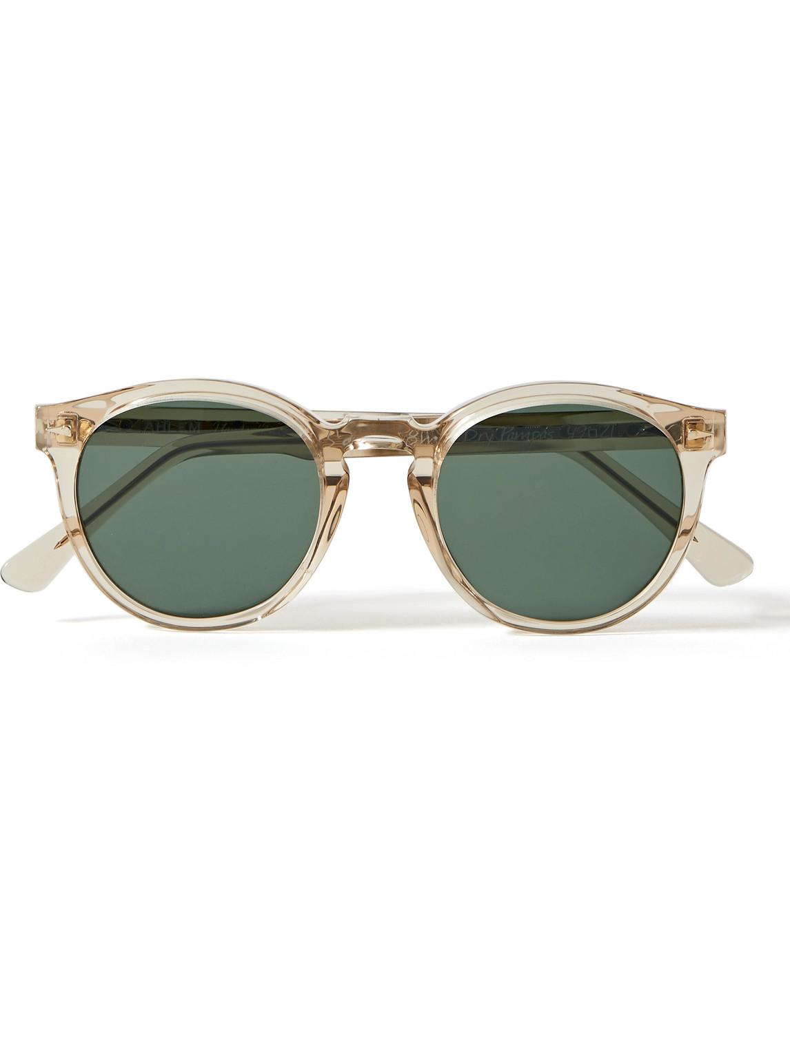 Ahlem St Germain Round-frame Acetate Sunglasses In Neutrals