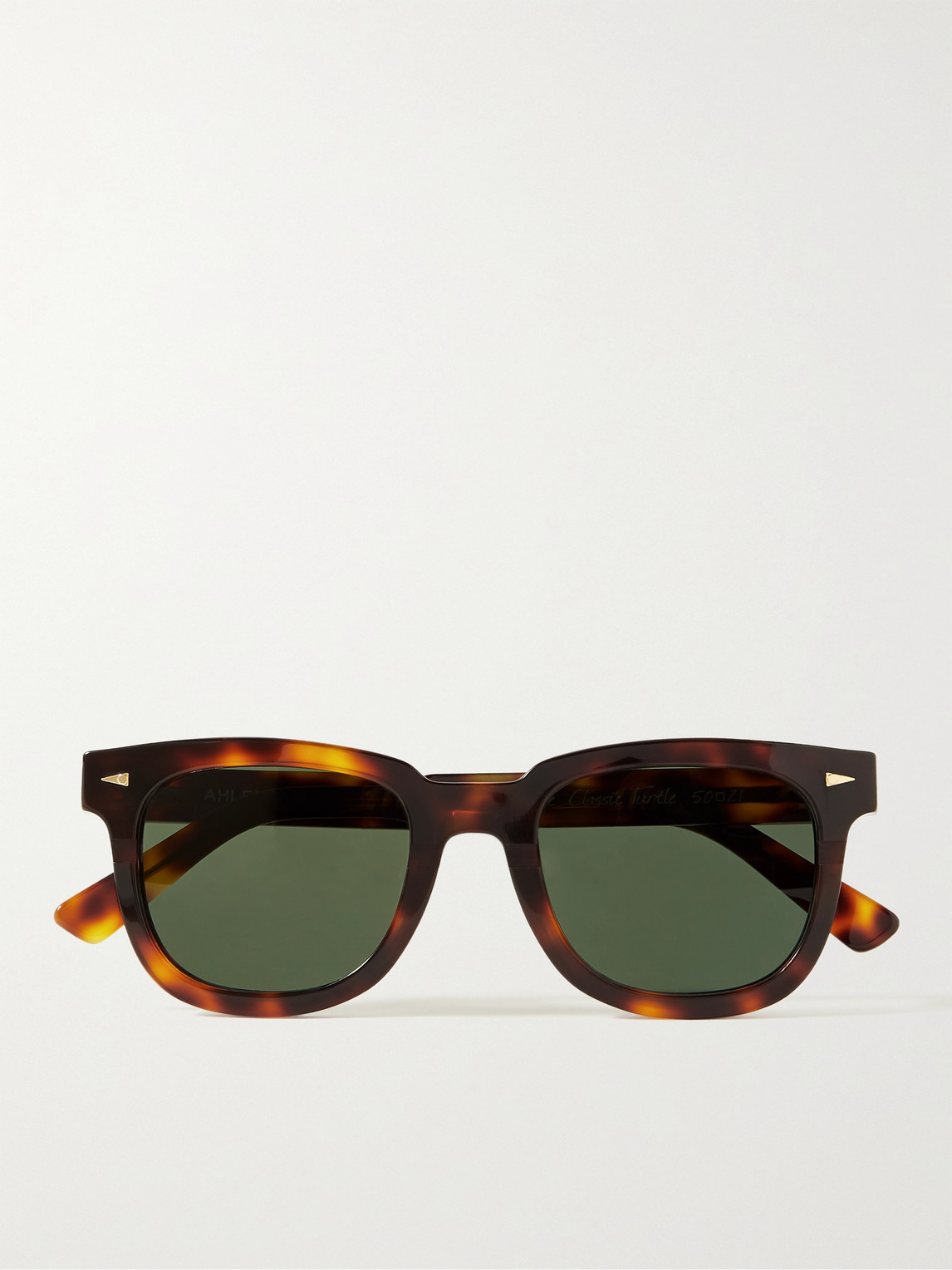 Ahlem Square Du Temple Square-frame Tortoiseshell Acetate Sunglasses In Brown