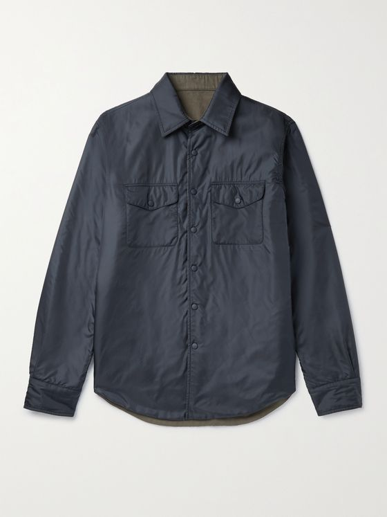 ASPESI Reversible Nylon and Twill Overshirt
