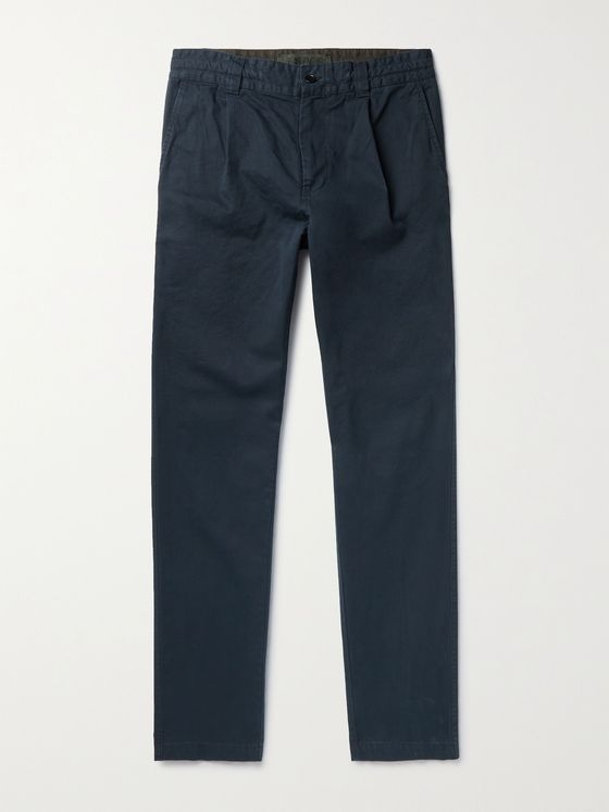 ASPESI Tapered Cotton-Drill Trousers