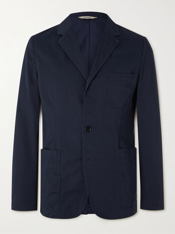 ASPESI Unstructured Cotton-Gabardine Blazer