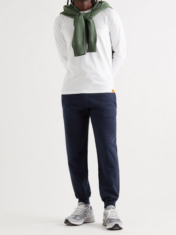 ASPESI Tapered Cotton, Cashmere and Wool-Blend Sweatpants