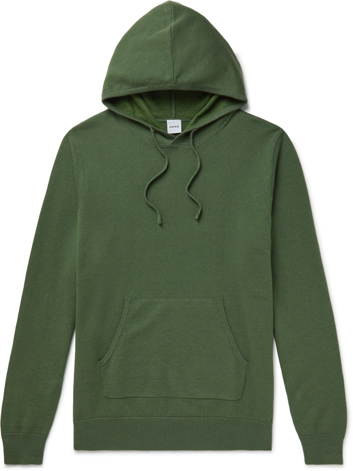 Aspesi - Cotton, Cashmere And Wool-Blend Hoodie - Men - Green - It 46