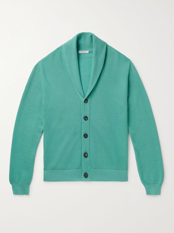 BOGLIOLI Shawl-Collar Cotton-Piqué Cardigan