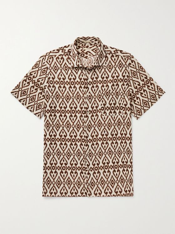 MASSIMO ALBA Malibu Printed Cotton Shirt