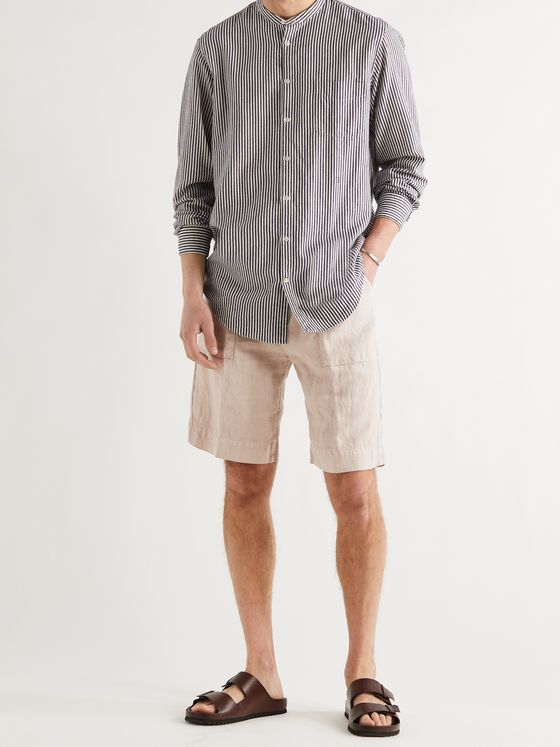MASSIMO ALBA Wally Linen Shorts