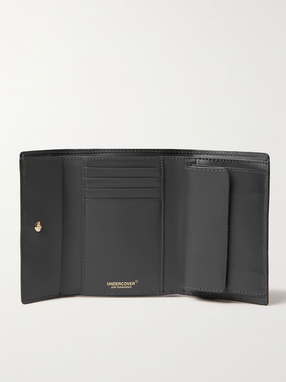 UNDERCOVER Printed Leather Billfold Wallet