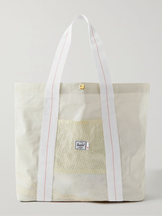 HERSCHEL SUPPLY CO Re-Sail Patchwork Recycled Shell and Canvas Tote Bag