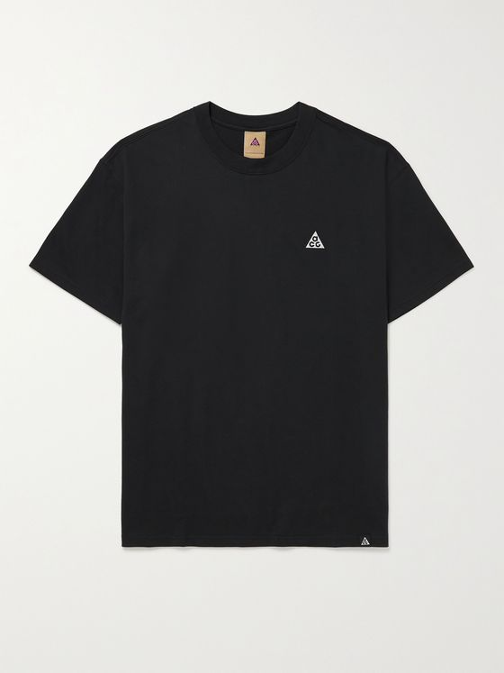 NIKE ACG NRG Logo-Embroidered Jersey T-Shirt