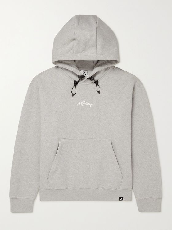NIKE ACG NRG Logo-Embroidered Cotton-Blend Jersey Hoodie