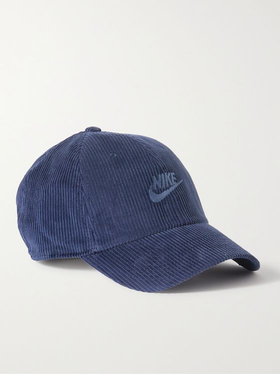 NIKE Heritage 86 Logo-Embroidered Cotton-Corduroy Baseball Cap