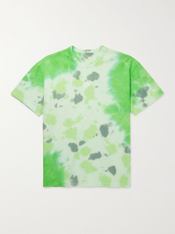 NIKE NSW Logo-Print Tie-Dyed Cotton-Jersey T-Shirt