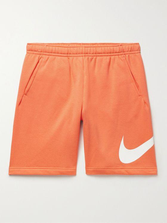 NIKE Sportswear Club Logo-Print Cotton-Blend Jersey Shorts