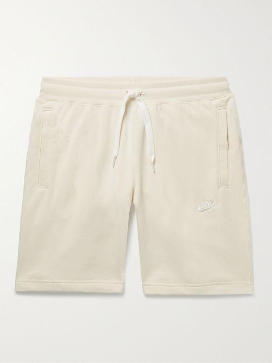 NIKE Sportswear Logo-Embroidered Cotton-Jersey Drawstring Shorts
