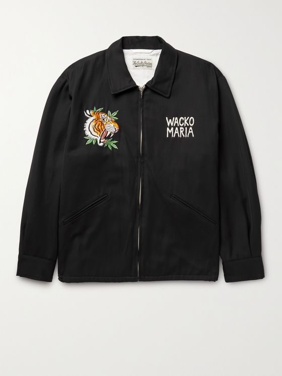 WACKO MARIA + Tim Lehi Vietnam Embroidered Satin-Twill Jacket