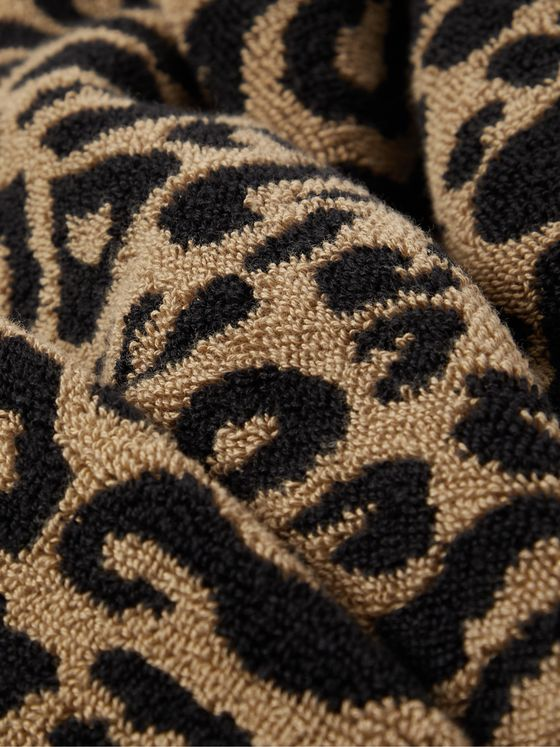 WACKO MARIA Leopard-Jacquard Cotton-Terry Beach Towel