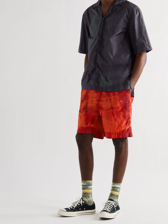 ACNE STUDIOS Camp-Collar Tie-Dyed Nylon Shirt