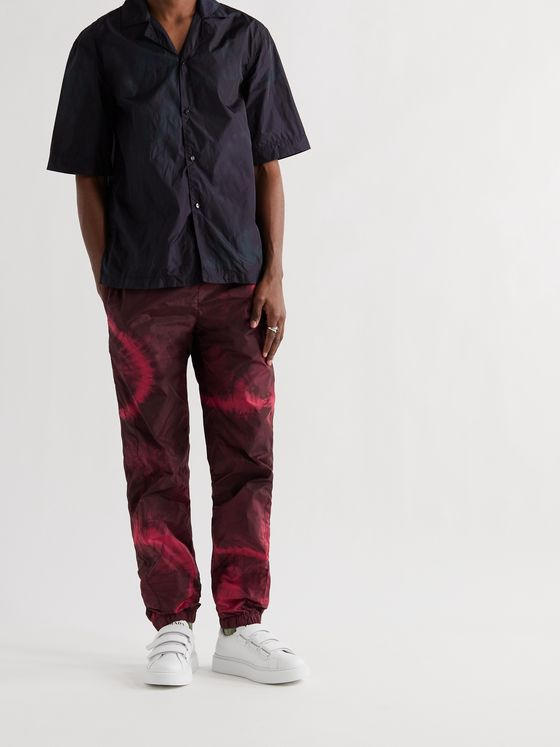 ACNE STUDIOS Tapered Tie-Dyed Nylon Track Pants